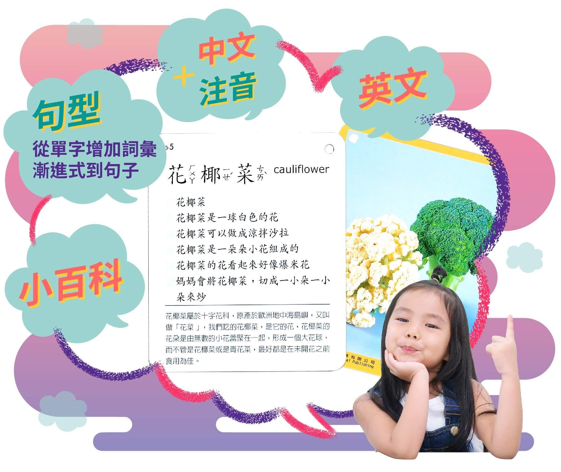 圖卡讀卡,孩子開口說句子,從單字增加詞彙漸進式到句子,